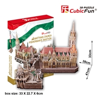 Matthias Church CubicFun MC128h 3D Puzzle 176 Pieces