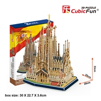 Sagrada FamiIia Ia CubicFun MC153h 3D Puzzle 194 Pieces