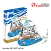 Santorini Islands CubicFun MC195h 3D Puzzle 129 Pieces
