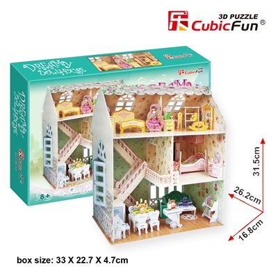 Dreamdollhouse CubicFun P645h 3D Puzzle 160 Pieces