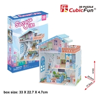 Dollhouse Sea-sideVilla CubicFun P683h 3D Puzzle 112 Pieces