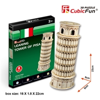 Tower Of Pisa (Italy) CubicFun S3008h 3D Puzzle 8 Pieces