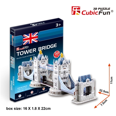 Tower Bridge(Uk) CubicFun S3010h 3D Puzzle 36 Pieces