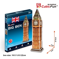 Big Ben CubicFun S3015h 3D Puzzle 13 Pieces
