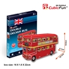 Double Decker Bus CubicFun S3018h 3D Puzzle 66 Pieces