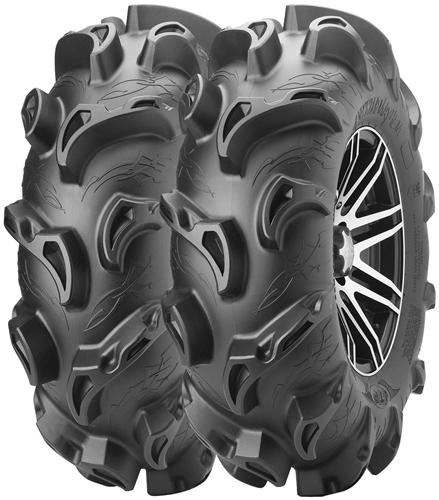 ITP Monster Mayhem Mud Tire and Wheel Package | 14 Inch | MotoSport Alloy | Mud Tire | Polaris ...