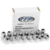 ITP Chrome Lug Nut Full Set (16) 12mm Flat Base 17mm Head - Kawasaki Mule 2500 | 2510 | 2520 | 3000 | 3010 | 3020 | 4000 | 4010 | Teryx 750