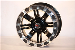 GMZ Liteloc Beadlock Wheels | Aftermarket | Cast Aluminum | True Beadlock | Black | Machined | Polaris RZR XP 900 | XP4 | 800 | S | 4 | Can Am Maverick | Commander 800 | 1000 | Arctic Cat Wildcat | Kawasaki Teryx 4 | Yamaha Rhino | Adrenaline Junkee | AJ