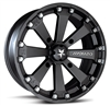 Motosport Alloys M20 Wheel | Flat Black | Chrome | 14"
