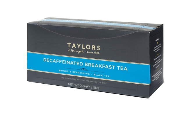 Taylors of Harrogate Decaffeinated Breakfast  - 100 Wrapped Tea Bags