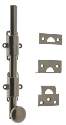 "11272 8"" Heavy Duty Surface Bolt with Round Knob"