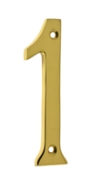 "23021 4"" Cast Solid Brass Number: #1"