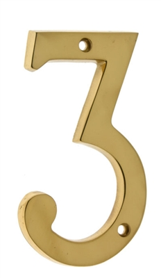 "23023 4"" Cast Solid Brass Number: #3"