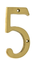 "23025 4"" Cast Solid Brass Number: #5"