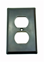 Square Single Receptacle Plate