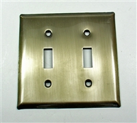28018 - Square Double Switch Plate