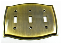 Round Triple Switch Plate