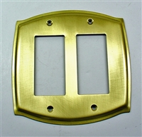 Round Double GFCI Plate