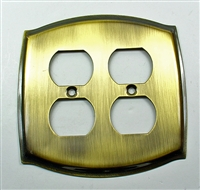 Round Double Receptacle Plate