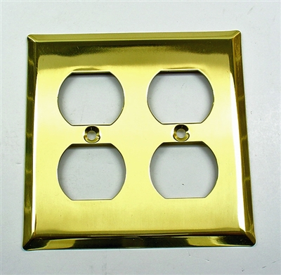 Square Double Receptacle Plate