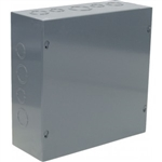 "Orbit 10104 Steel Enclosure, NEMA 1 Indoor w/Screw Cover - 10"" x 10"" x 4"""