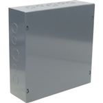 "Orbit 12124 Steel Enclosure, NEMA 1 Indoor w/Screw Cover - 12"" x 12"" x 4"""