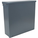 "Orbit 12124R Steel Enclosure, NEMA 3R Outdoor w/Screw Cover - 12"" x 12"" x 4"""