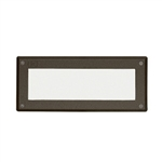 Kichler 15774AZT27 LED Deck Light, 2W 9V-15V Brick Light w/Lens - 2700K - Textured Architectural Bronze