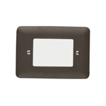 Kichler 15780AZT27 LED Deck Light, 1W 9V-15V Mini Step Light w/Lens - 2700K - Textured Architectural Bronze