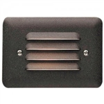 Kichler 15782AZT27 LED Deck Light, 1W 9V-15V Mini Step Light w/Louvers - 2700K - Textured Architectural Bronze