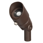 Kichler 16005AZT27 LED Flood Light, 4W 12V Wide - 2700K - Textured Architectural Bronze
