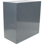 "Orbit 16166 Steel Enclosure, NEMA 1 Indoor w/Screw Cover - 16"" x 16"" x 6"""