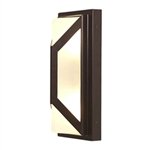 Access Lighting - Nyami Wet Location Wall Fixture - 20370MGLED-BRZ-FST