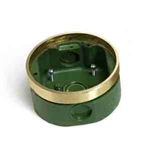 Lew Electric 332-58 Floor Box, Shallow - Brass