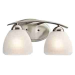 Kichler 45118NI Bathroom Light, Transitional Bath 2-Light Fixture - Brushed Nickel