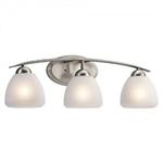 Kichler 45119NI Bathroom Light, Transitional Bath 3-Light Fixture - Brushed Nickel (Open Box Item)