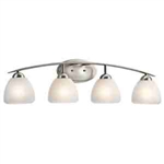 Kichler 45120NI Bathroom Light, Transitional Bath 4-Light Fixture - Brushed Nickel