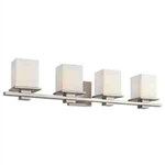 Kichler 45152AP Bathroom Light, Transitional Bath 4-Light Fixture - Antique Pewter