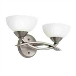 Kichler 45162AP Bathroom Light, Soft Contemporary/Casual Lifestyle Bath 2-Light Fixture - Antique Pewter