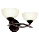 Kichler 45162OZ Bathroom Light, Soft Contemporary/Casual Lifestyle Bath 2-Light Fixture - Olde Bronze