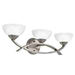 Kichler 45163AP Bathroom Light, Soft Contemporary/Casual Lifestyle Bath 3-Light Fixture - Antique Pewter