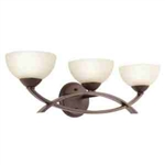 Kichler 45163OZ Bathroom Light, Soft Contemporary/Casual Lifestyle Bath 3-Light Fixture - Olde Bronze