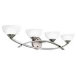 Kichler 45164AP Bathroom Light, Soft Contemporary/Casual Lifestyle Bath 4-Light Fixture - Antique Pewter