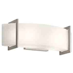 Kichler 45218NI Bathroom Light, Soft Contemporary/Casual Lifestyle Bath 2-Light Fixture - Brushed Nickel
