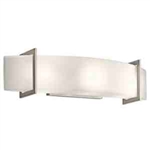 Kichler 45220NI Bathroom Light, Soft Contemporary/Casual Lifestyle Bath 3-Light Fixture - Brushed Nickel