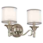 Kichler 45282AP Bathroom Light, Transitional Bath 2-Light Fixture - Antique Pewter