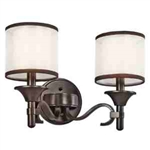 Kichler 45282MIZ Bathroom Light, Transitional Bath 2-Light Fixture - Mission Bronze