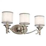 Kichler 45283AP Bathroom Light, Transitional Bath 3-Light Fixture - Antique Pewter