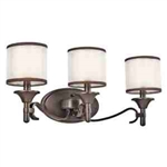 Kichler 45283MIZ Bathroom Light, Transitional Bath 3-Light Fixture - Mission Bronze (Open Box Item)