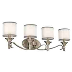 Kichler 45284AP Bathroom Light, Transitional Bath 4-Light Fixture - Antique Pewter